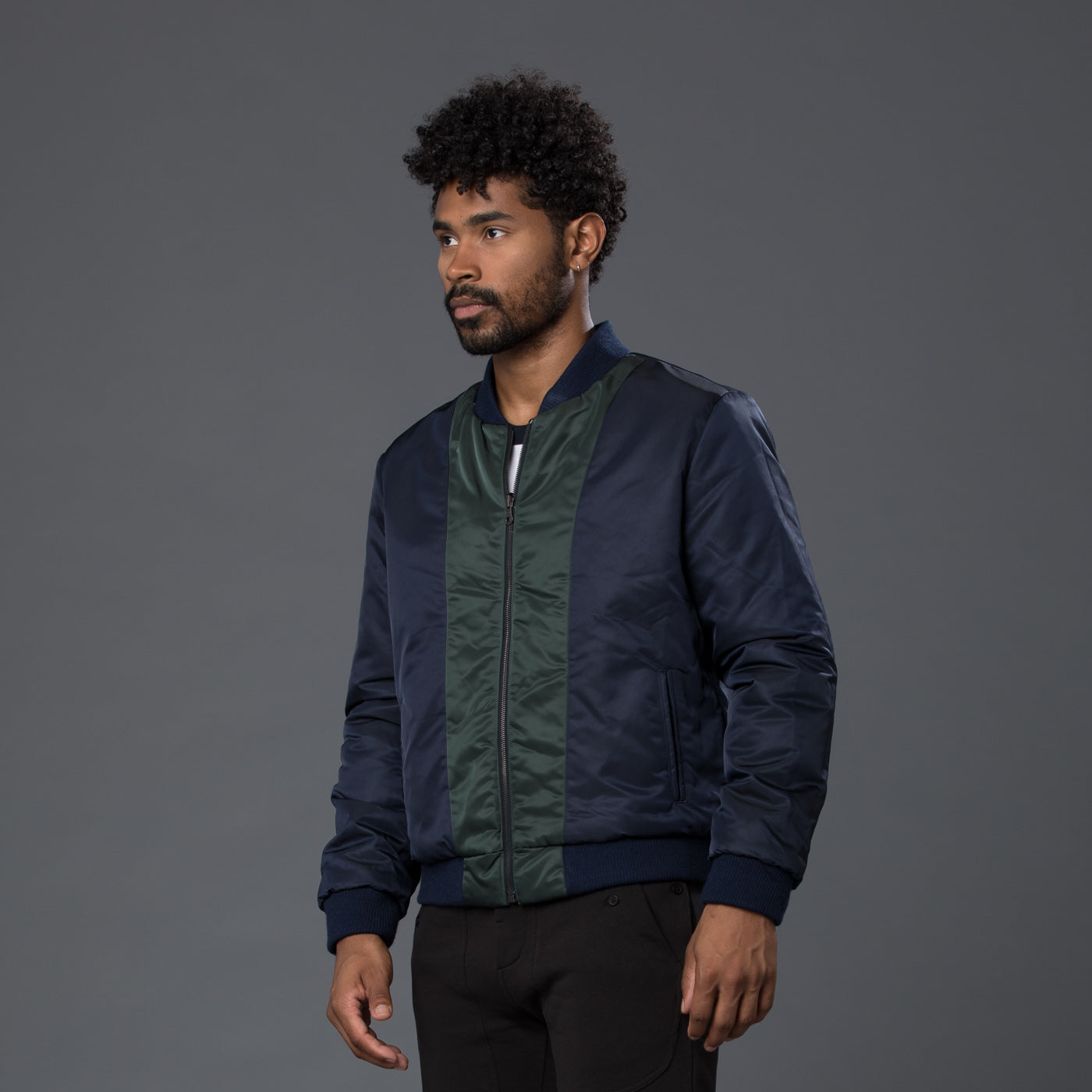 Krammer & Stoudt Blue Reversible Nylon Jacket