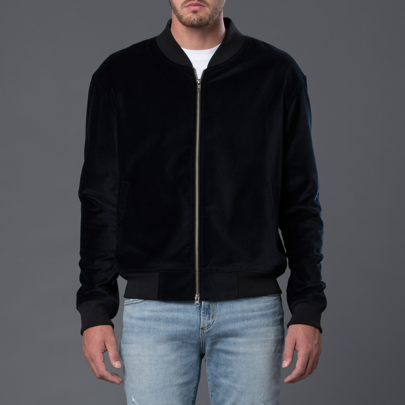 s.k. manor hill Velvet Bomber Jacket