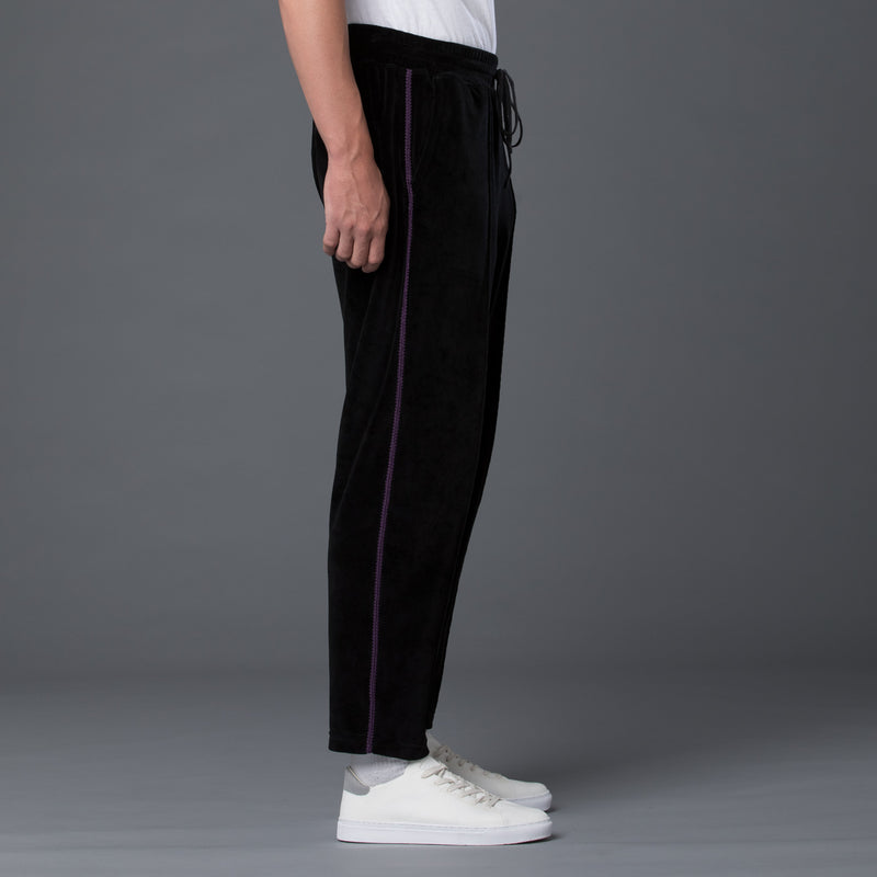 s.k. manor hill black Braided Velour Maestro Pant