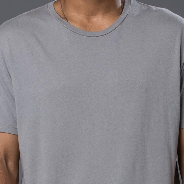 Grei New York Hand Dyed Pigment Crewneck Tee in Fog