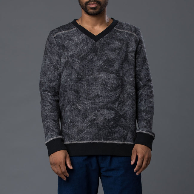 Thaddeus O'Neil Abstract Floral Sweater