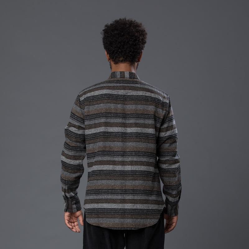 Krammer and Stoudt Brown Stripe Long Sleeve Shirt