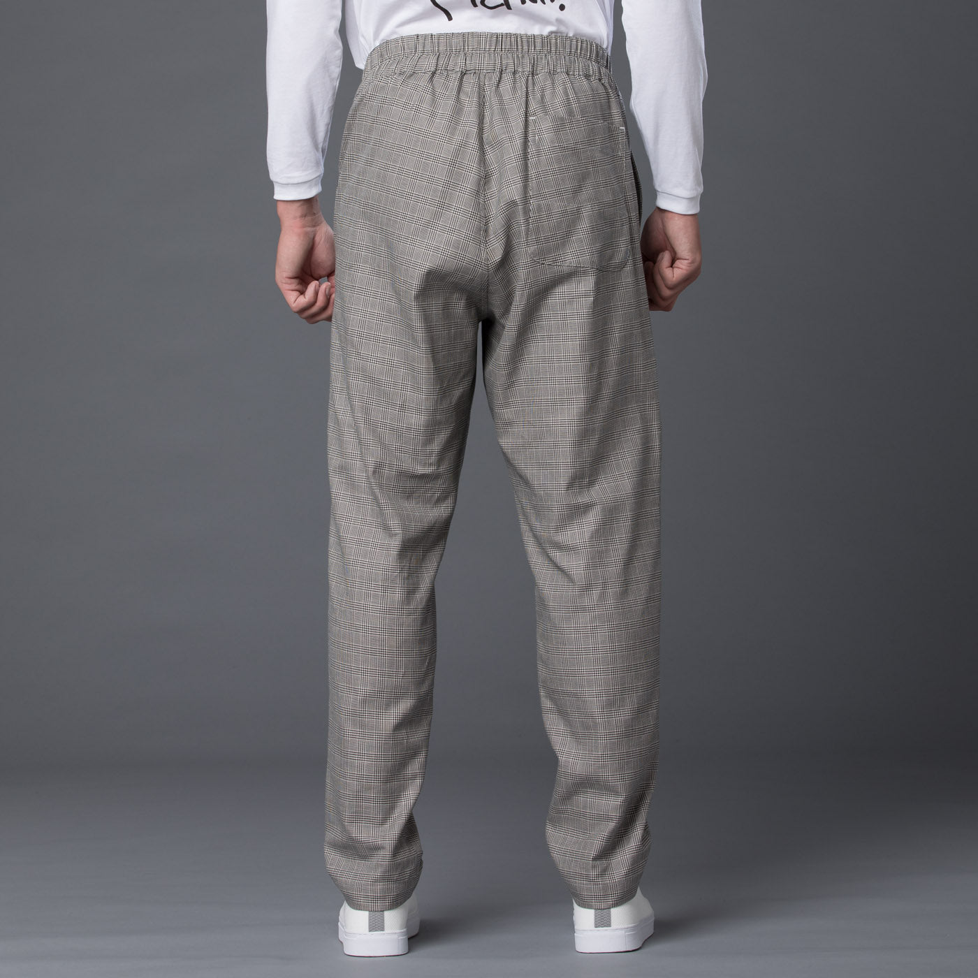 s.k. manor hill Glen Check Coma Trouser