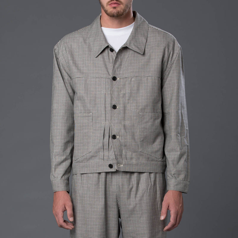 s.k. manor hill Type 100 Glen Check Jacket