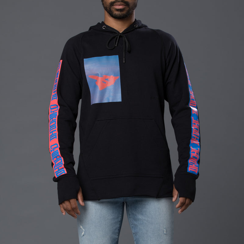 Abasi Rosborough Arc Hooded Sweatshirt in Black