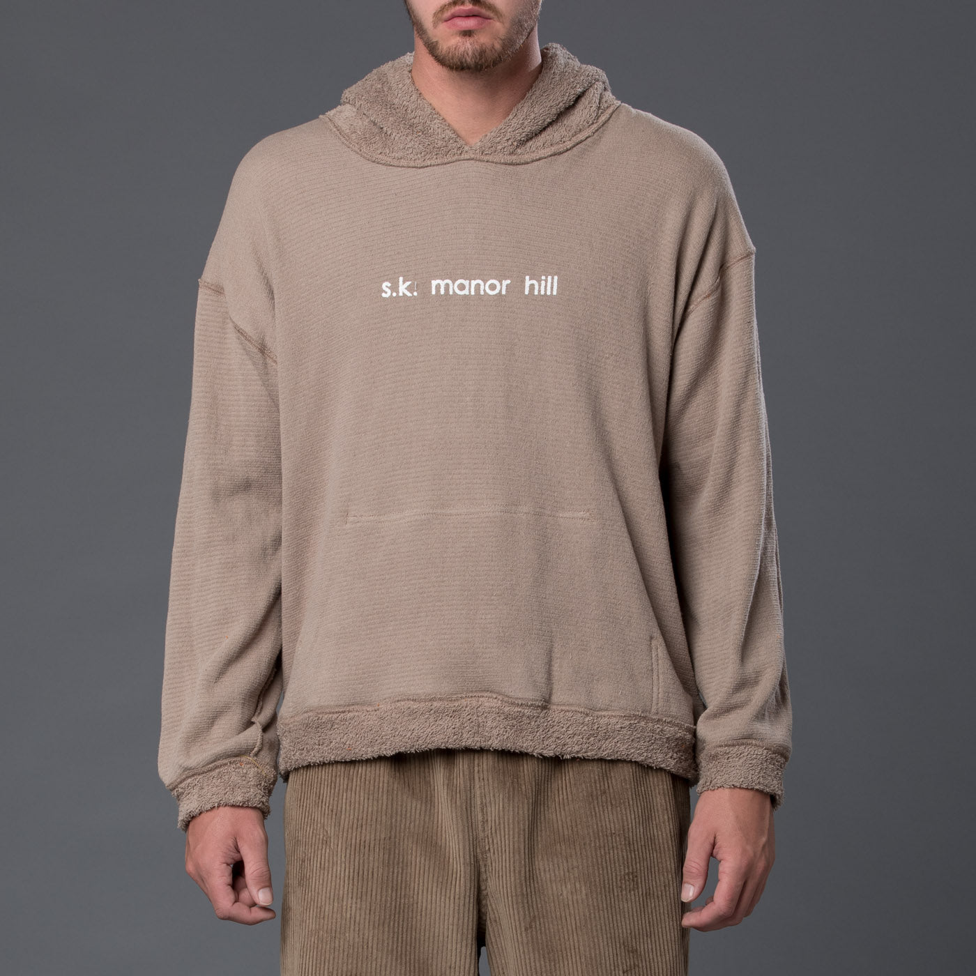 s.k. manor hill Reversible Pile Hoodie