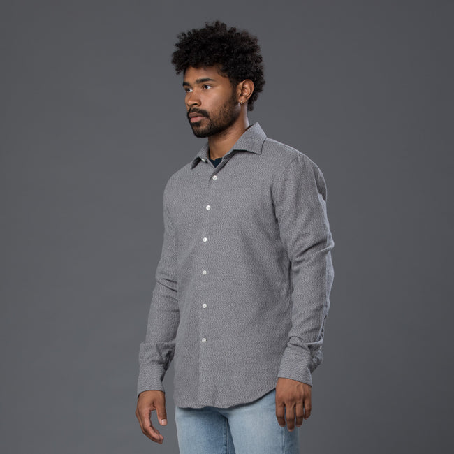 Freemans Sporting Club Grey Oxford Shirt