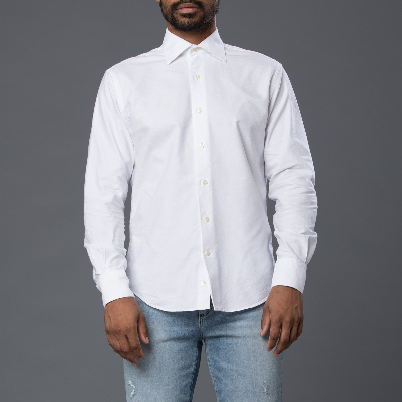 Freemans Sporting Club White Hopkins Oxford Shirt