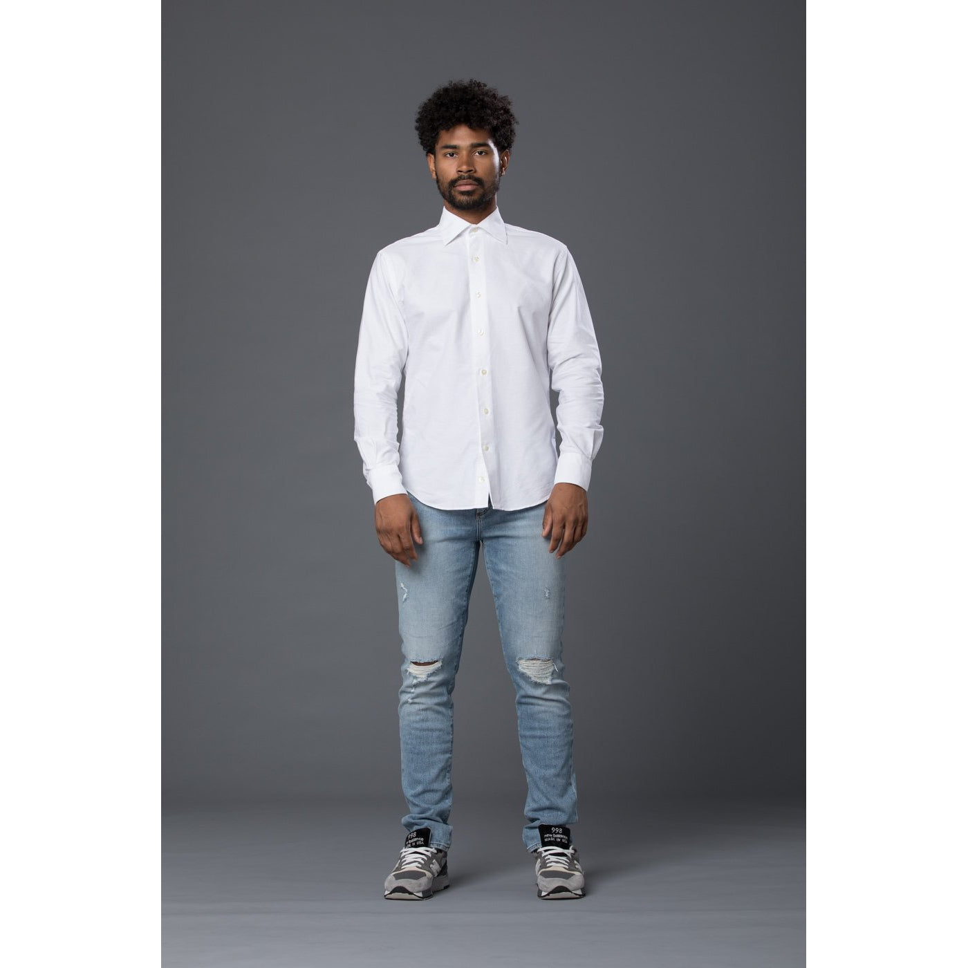 Freemans Sporting Club White Oxford Shirt