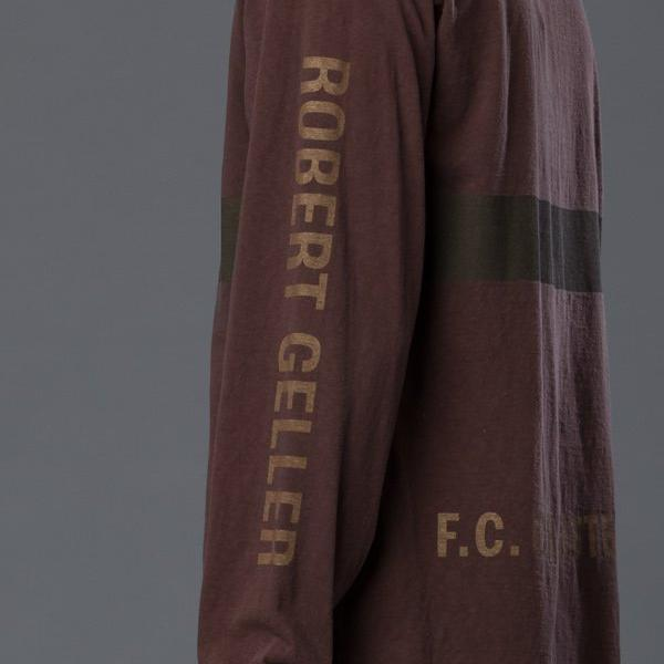 Robert Geller Rust Long Sleeve Tee