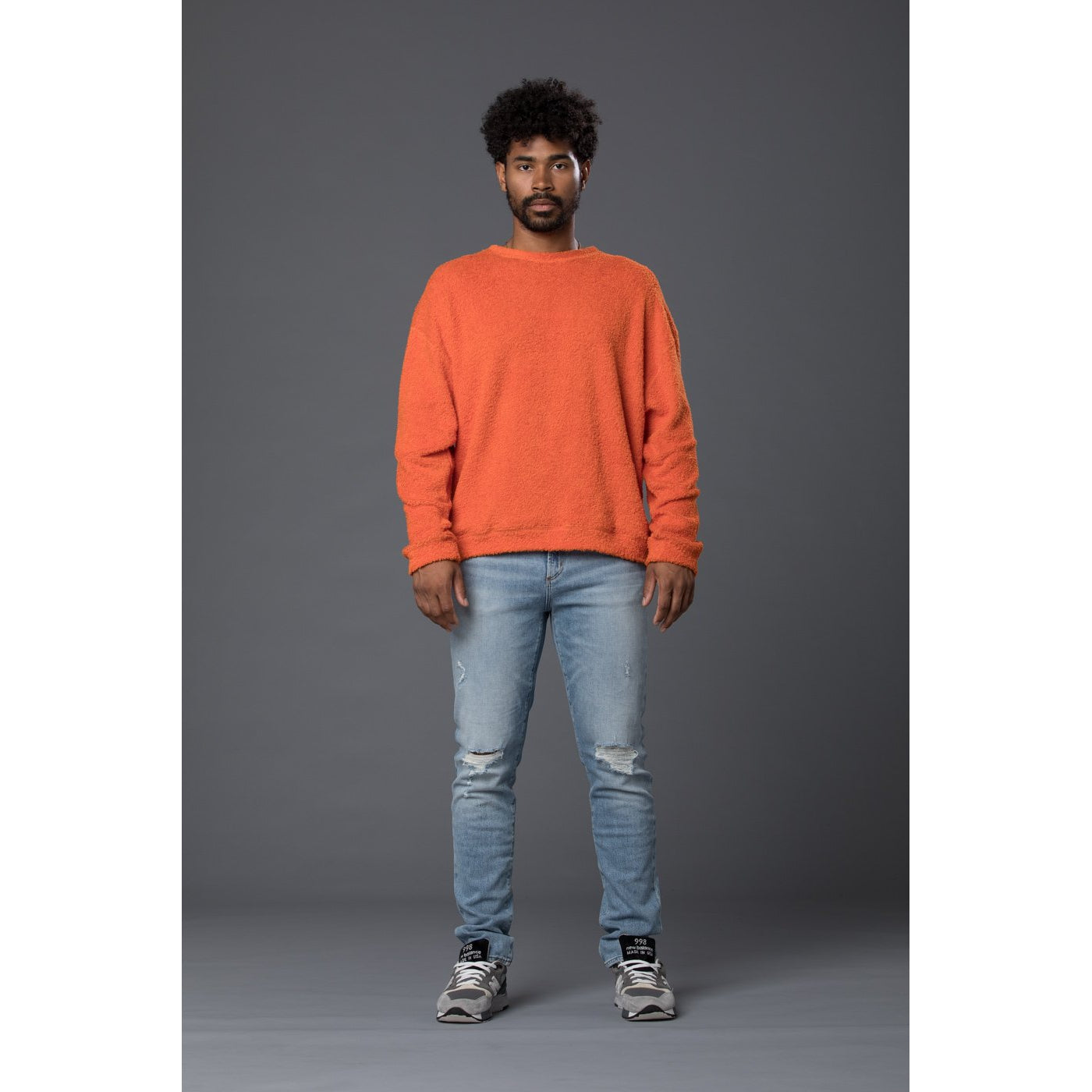 s.k. manor hill Reversible Pile Crewneck