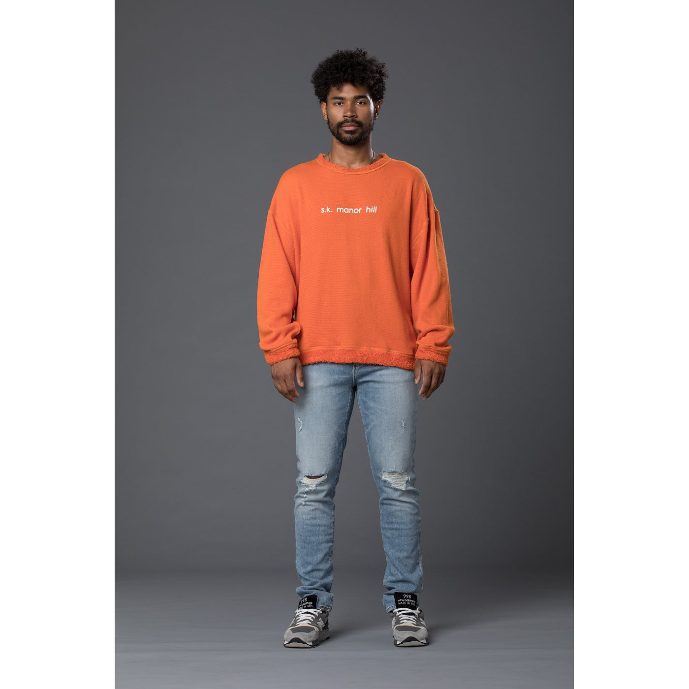 s.k. manor hill Reversible Pile Sweatshirt