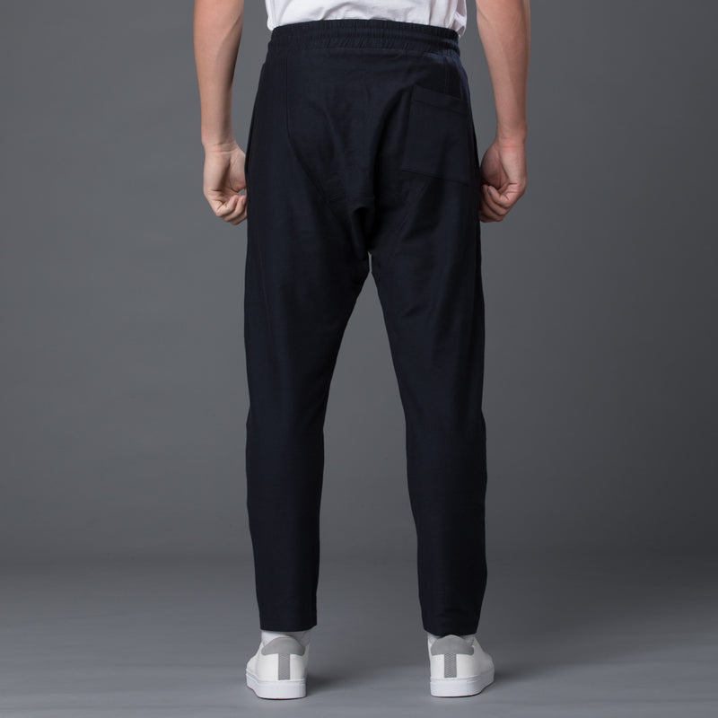 Grei New York Navy Drop Rise Pant