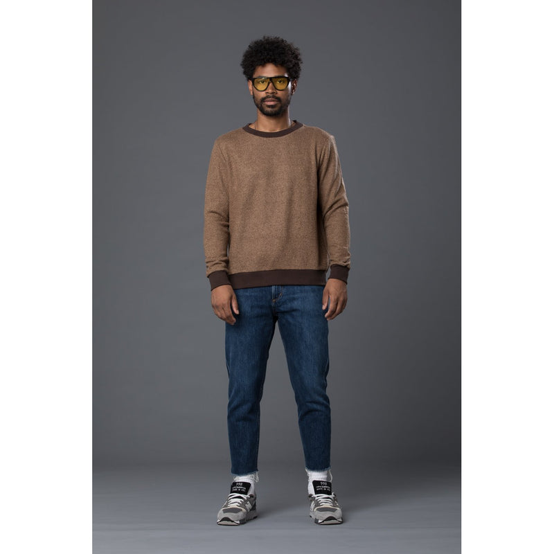Thaddeus O'Neil Brown Wool Crewneck Sweater