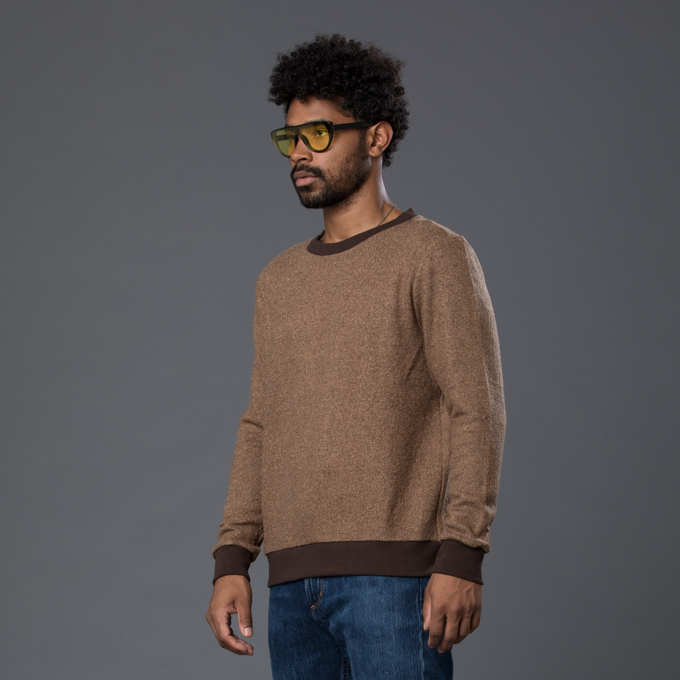 Thaddeus O'Neil Brown Wool Jumper