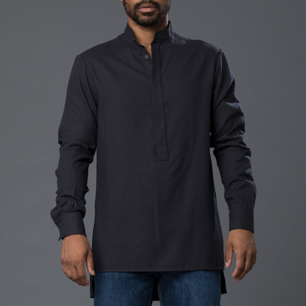 Deveaux Black Flannel Shirt
