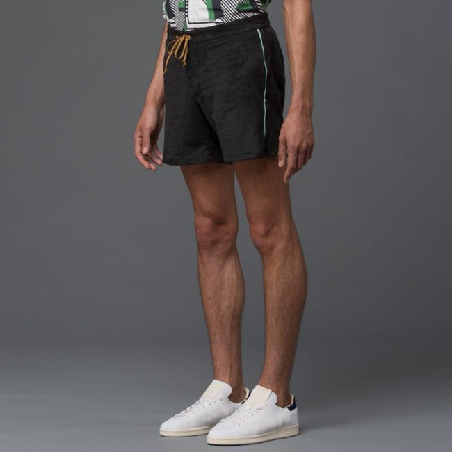 Thaddeus O'Neil Black Swim Trunks