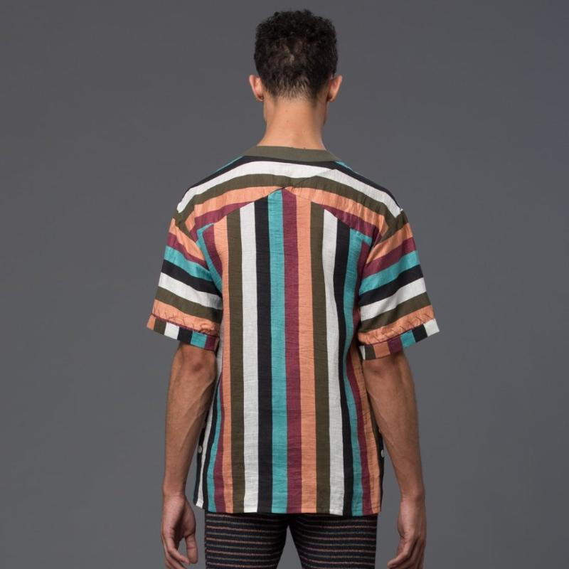 Thaddeus O'Neil Striped Short Sleeve Shirt