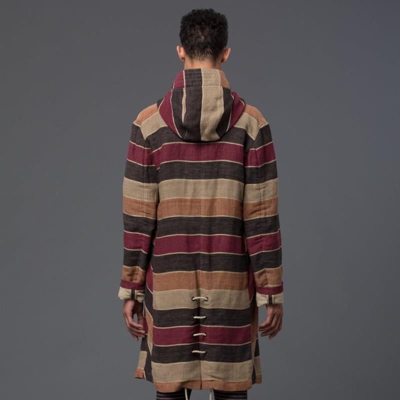 Thaddeus O'Neil Striped Overcoat