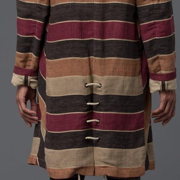 Thaddeus O'Neil Striped Trench