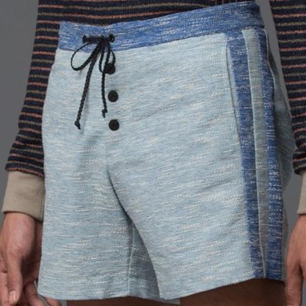 Thaddeus O'Neil Blue Swim Trunks