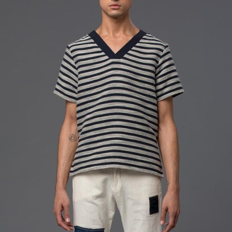 Thaddeus O'Neil Striped Tee Shirt