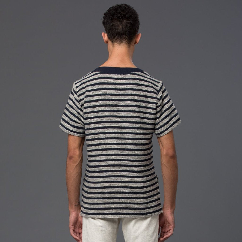 Thaddeus O'Neil Navy Stripe Tee Shirt