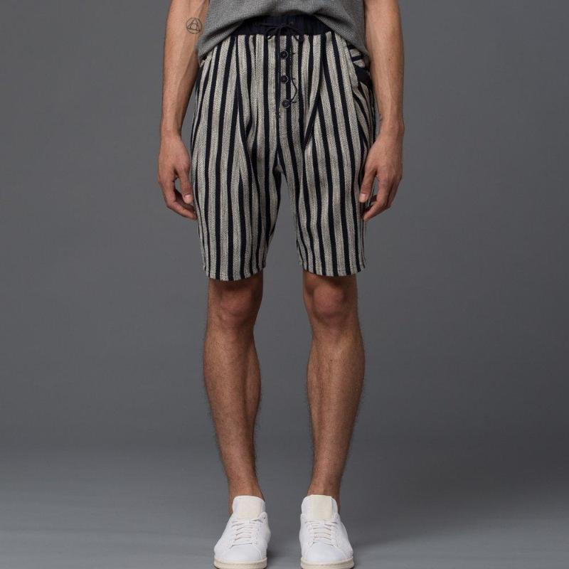 Thaddeus O'Neil Striped Beach Short