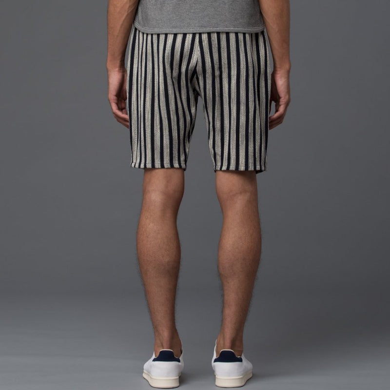 Thaddeus O'Neil Striped Drop Crotch Short