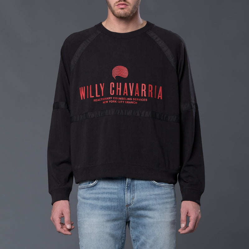 Willy Chavarria Battery Buffalo Long Sleeve Sweatshirt