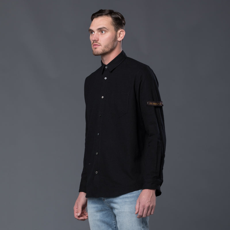 Robert Geller Black Franz Pocket Shirt