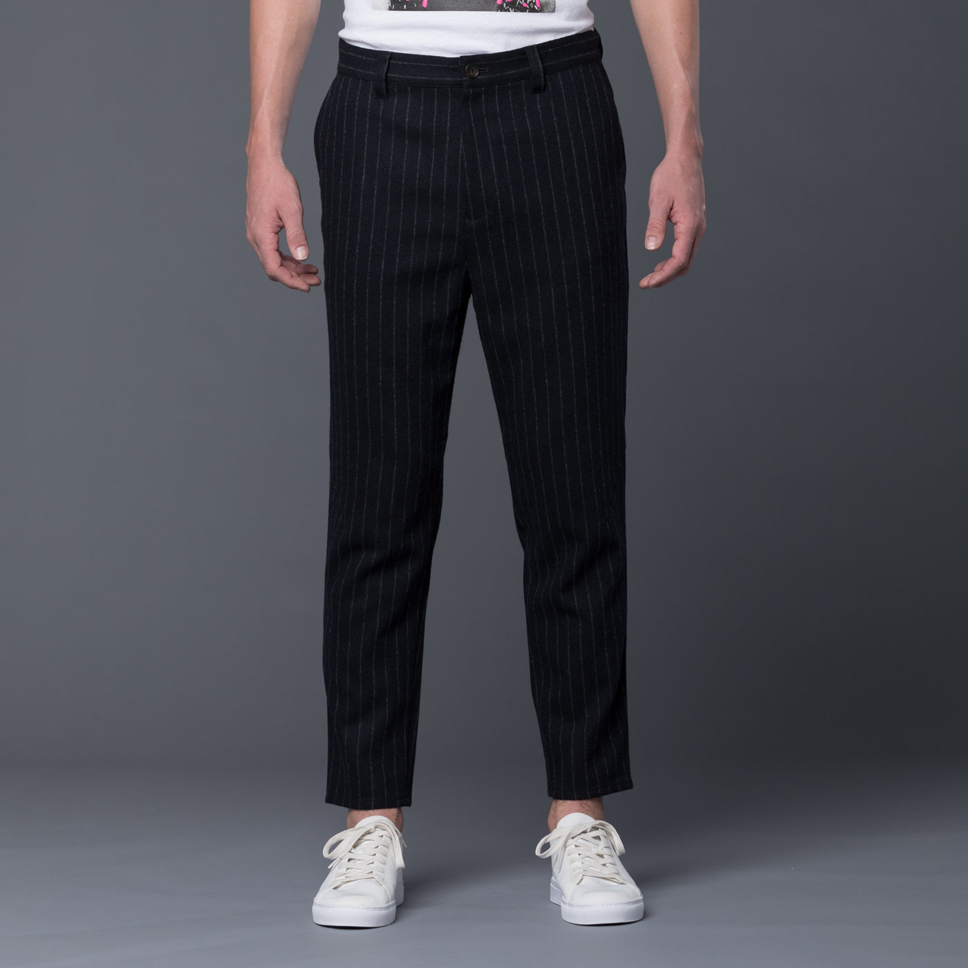 Gustav Von Aschenbach Striped Tweed Trousers
