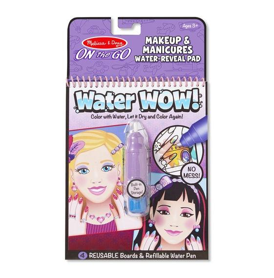 Melissa & Doug - Water Wow Reusable Colouring Book - Makeup & Manicures