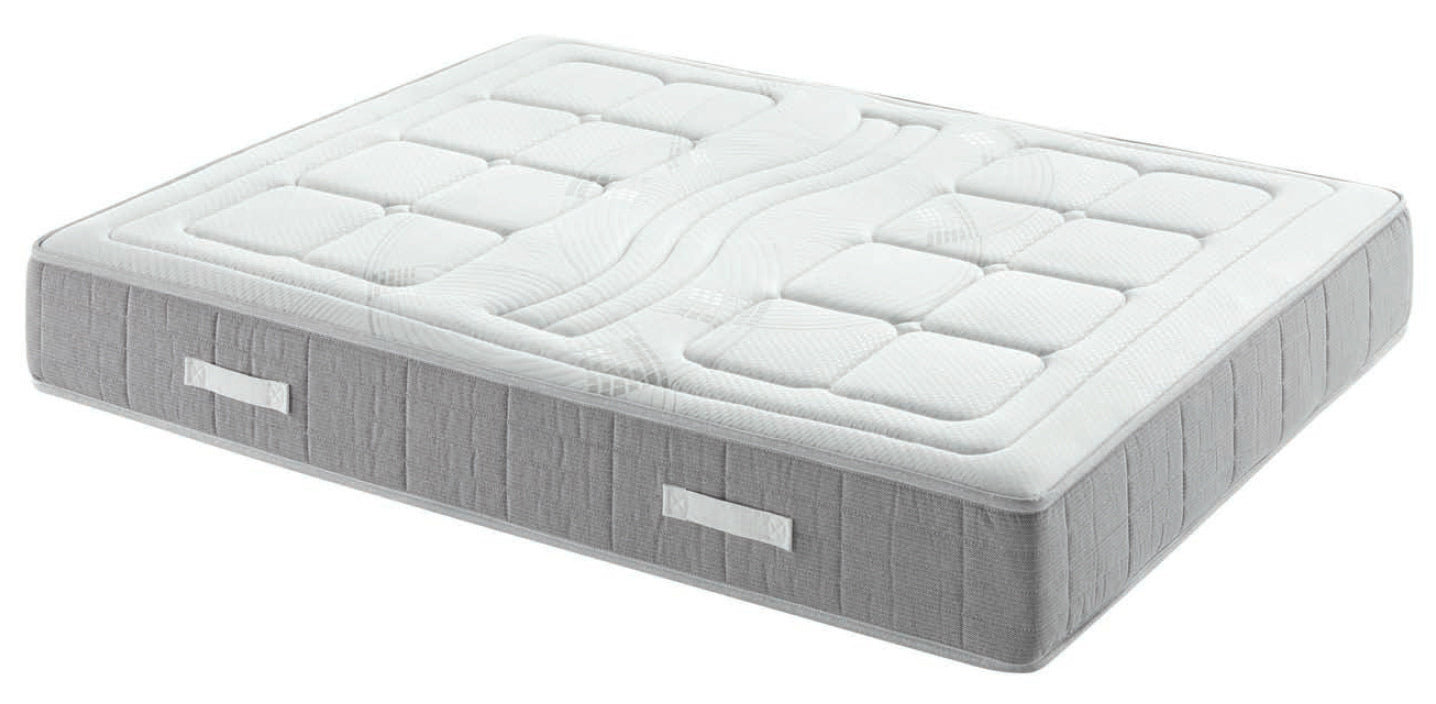 Colchón TIVOLI Viscoelástica 4CM y Muelles Ensacados Descanso Doble Cara Núcleo Indeformable Tejido Stretch Ultrafresh 100% Transpirable Fabricado en España Garantía Europea