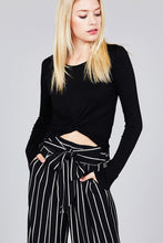 Load image into Gallery viewer, Soft, long sleeve crop top that is the perfect layering piece.