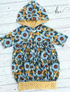 Falling for Sunflowers - SBC Bubble Tunic With Hood