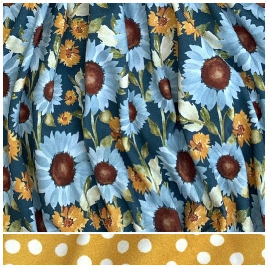 Falling for Sunflowers - Romper Bubble Length