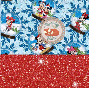 Snow Globes - Romper Shorts Length - Sparkle Accent Fabric