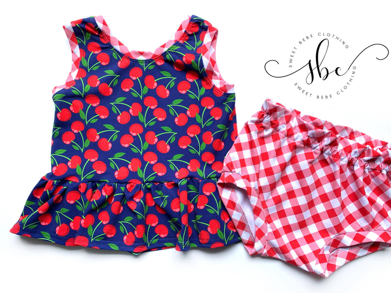 Summer Cherries - SBC Simple Peplum