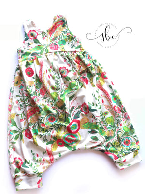 Bright Cream Floral - Shorts Length