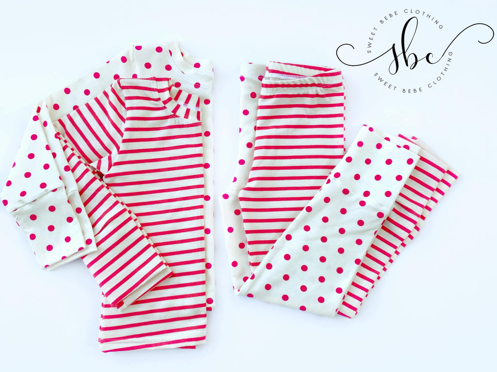 Stripes Sweet Dreams - Custom SBC Loungewear Top Only
