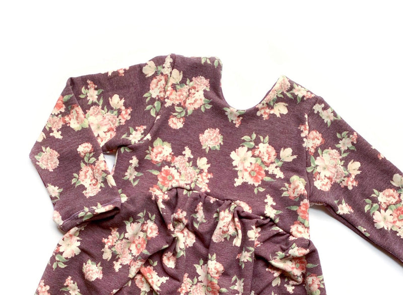 Purple Fall Floral - SBC Dress