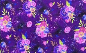 Purple Floral - SBC High-Low Tunic