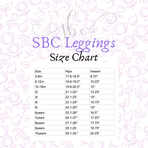 Winter Floral Princess Berry - SBC Leggings