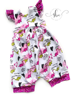 Ice Friends Floral - Romper Shorts Length