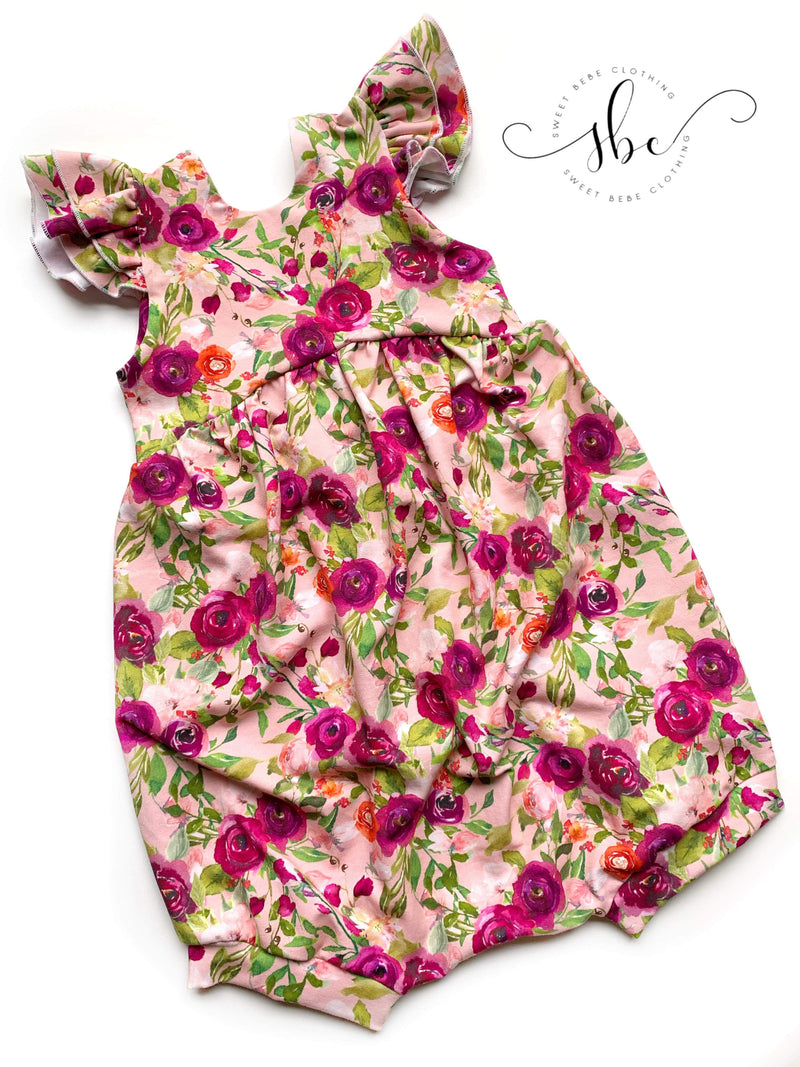 Spring Flowers - Romper Bubble Length