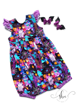 Ice Friends Floral - Romper Bubble Length