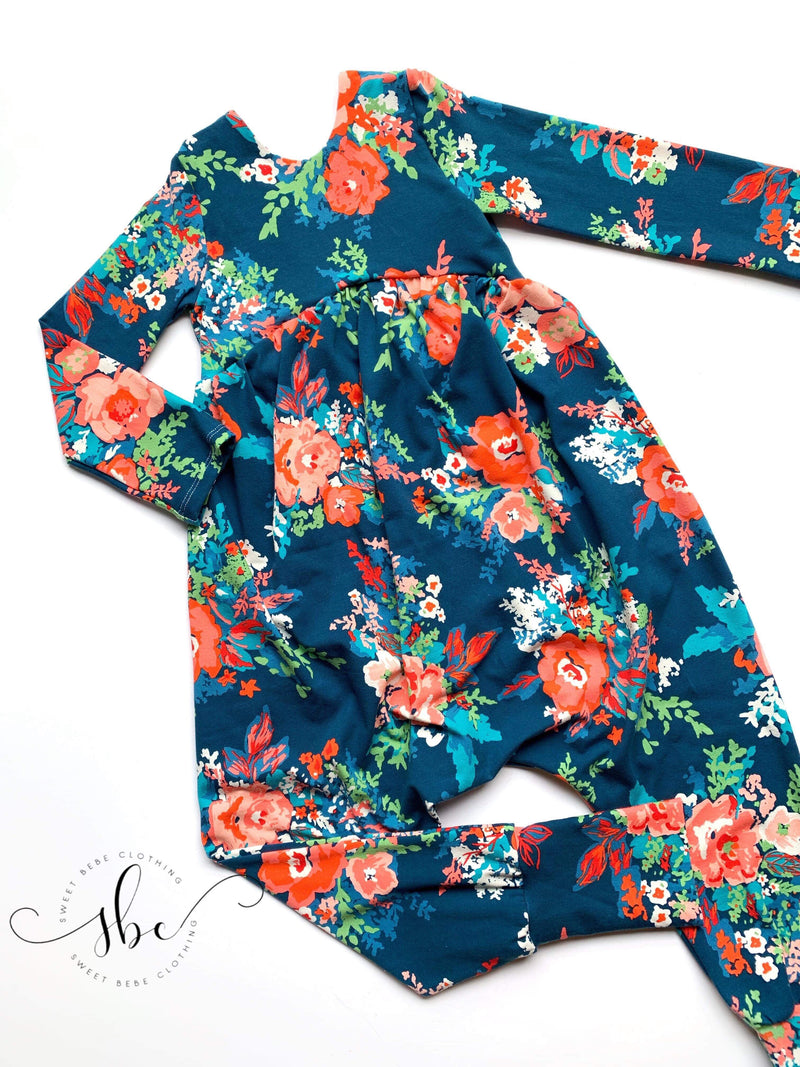 Falling for Florals - Romper Pants Length