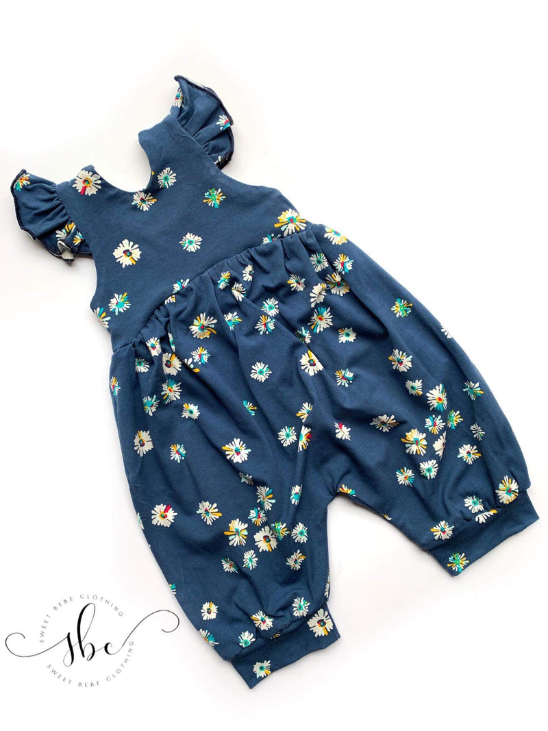 Blue Wildflower Floral - Pants Length