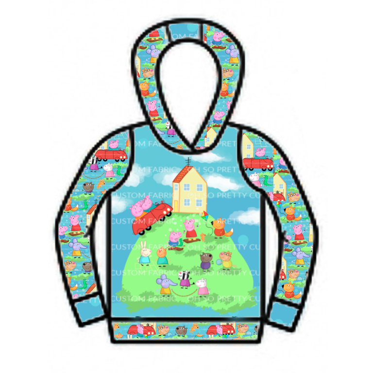 Puddle Friends with Panel - SBC Boy's Pullover with Hood
